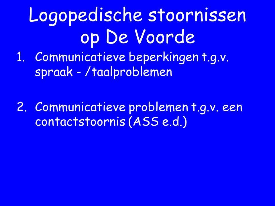 Logopedische stoornissen op De Voorde