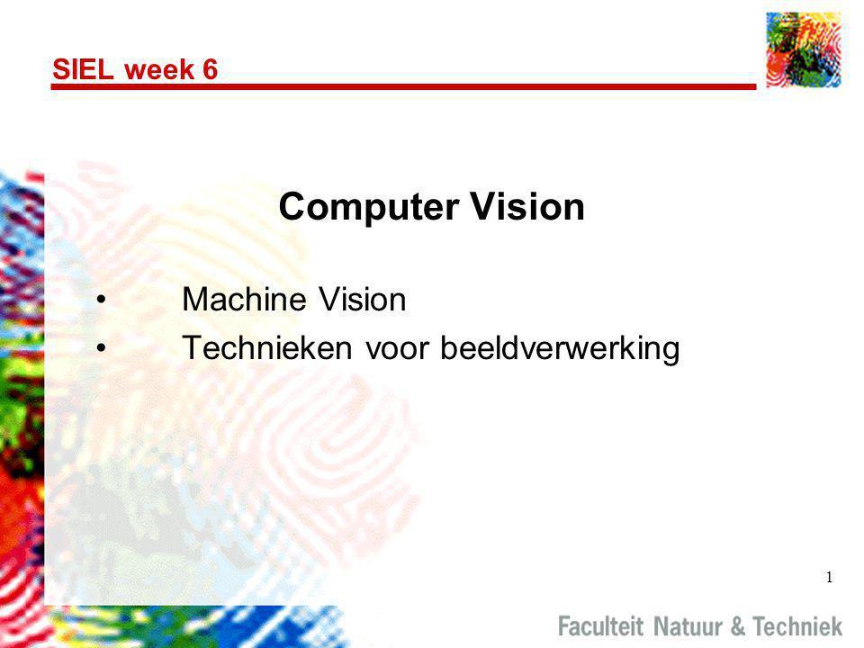 Computer Vision Machine Vision Technieken voor beeldverwerking