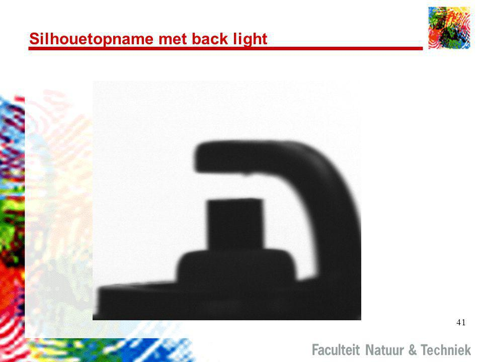 Silhouetopname met back light