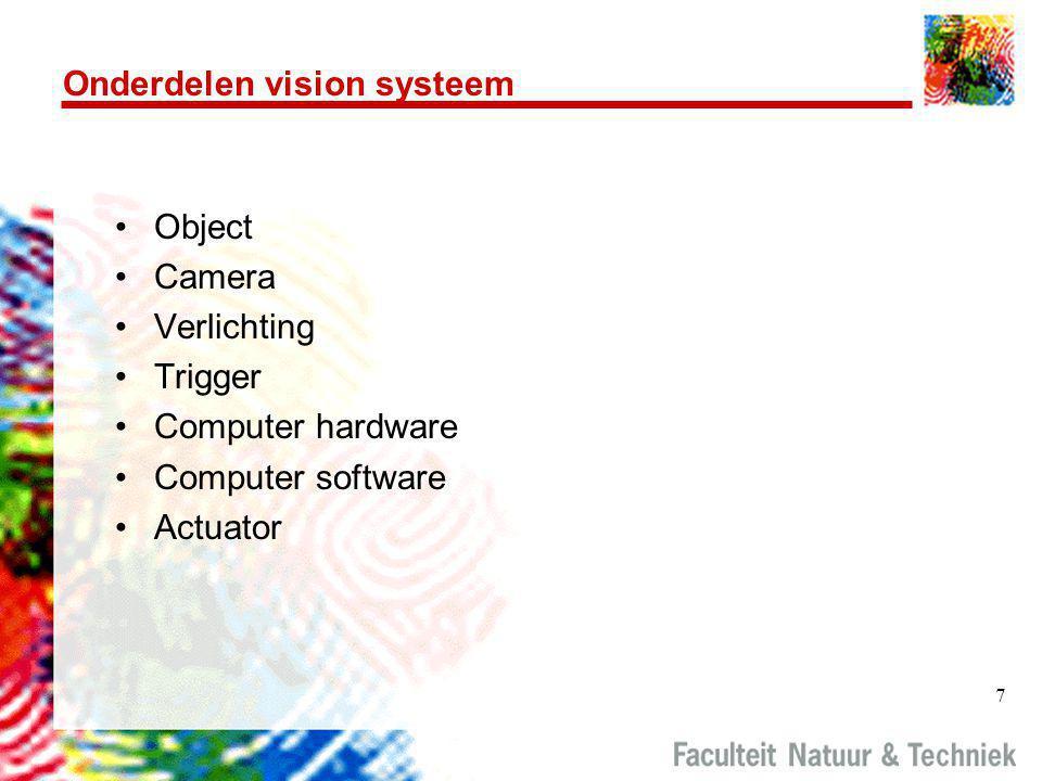 Onderdelen vision systeem