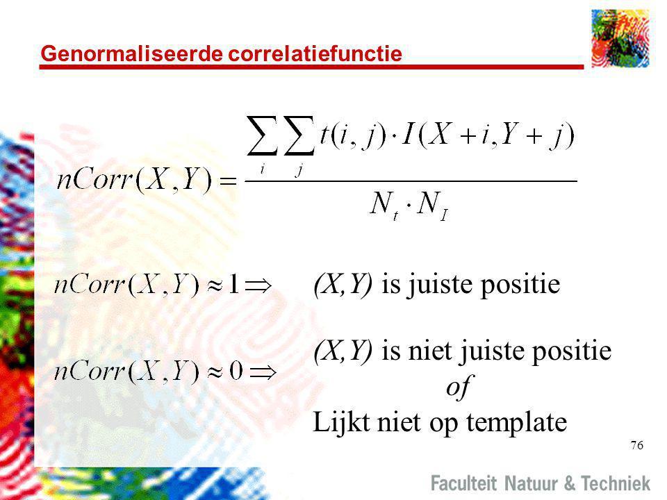 Genormaliseerde correlatiefunctie