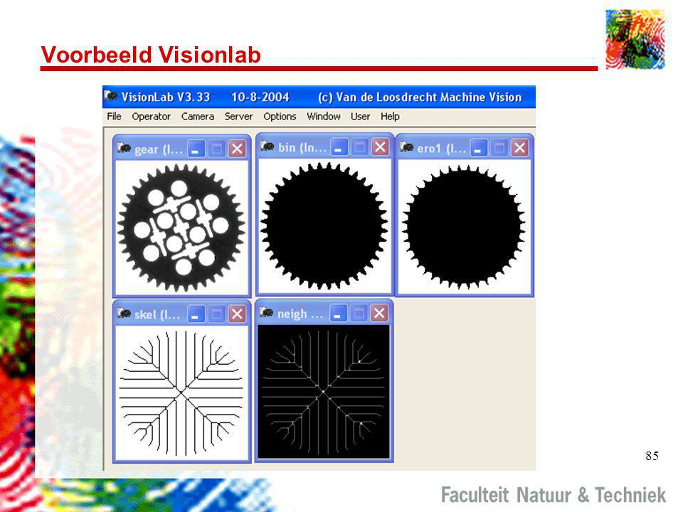 Voorbeeld Visionlab Script: gear2.jls lread gear gear.jl display gear