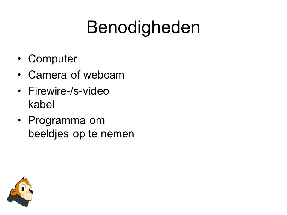 Benodigheden Computer Camera of webcam Firewire-/s-video kabel