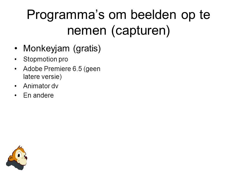Programma's om beelden op te nemen (capturen)