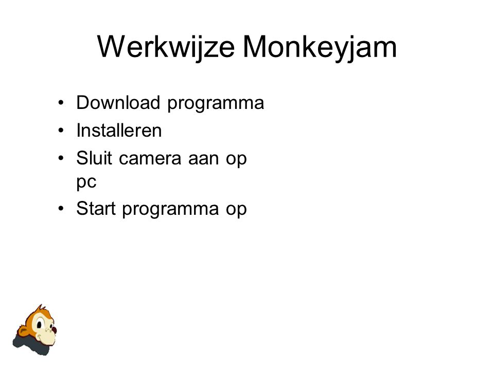 Werkwijze Monkeyjam Download programma Installeren