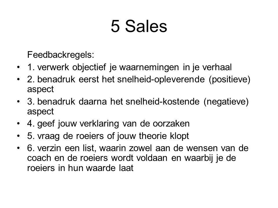 5 Sales Feedbackregels: