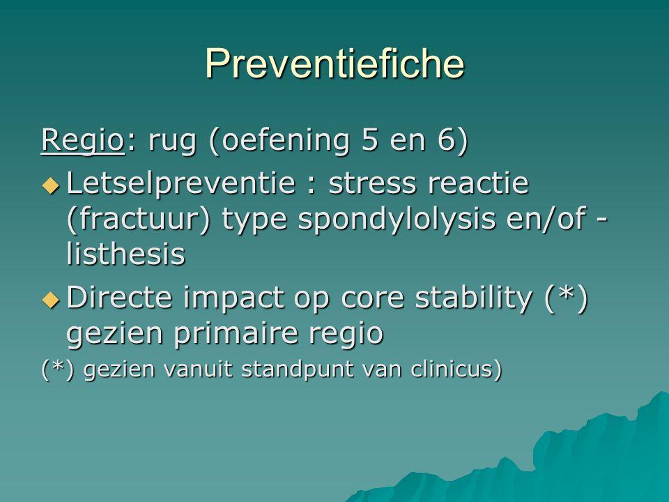 Preventiefiche Regio: rug (oefening 5 en 6)