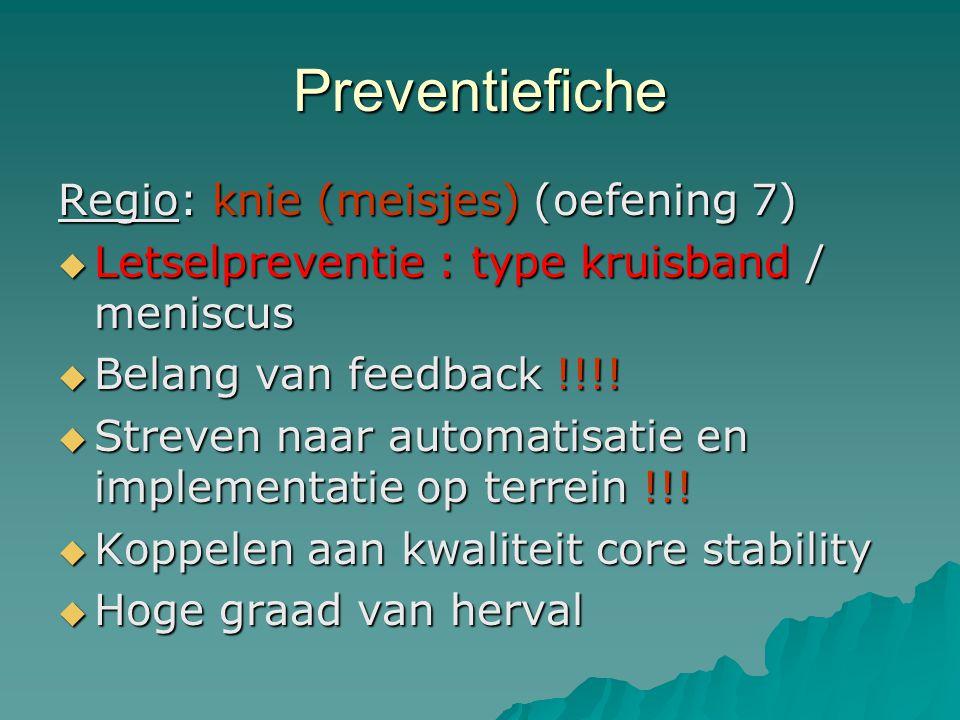 Preventiefiche Regio: knie (meisjes) (oefening 7)