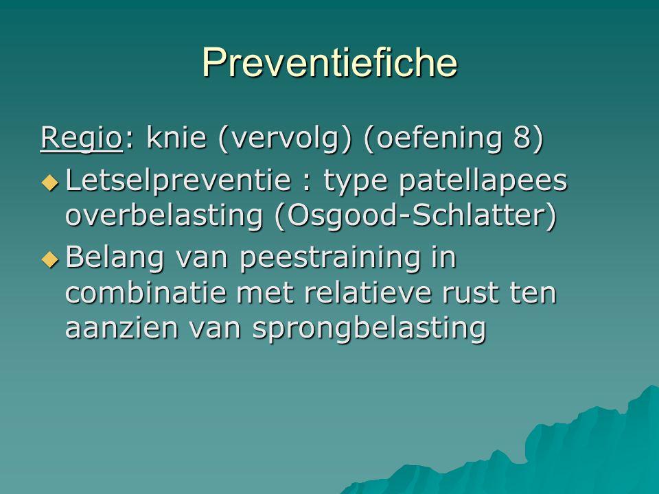 Preventiefiche Regio: knie (vervolg) (oefening 8)