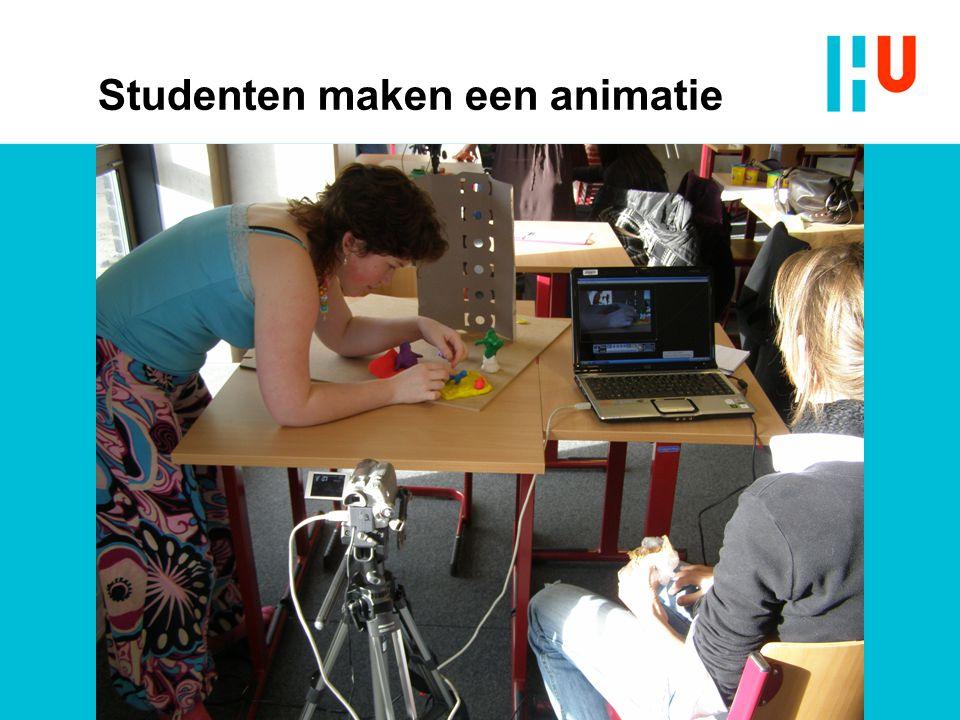 Studenten maken een animatie