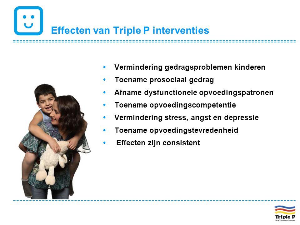 Effecten van Triple P interventies