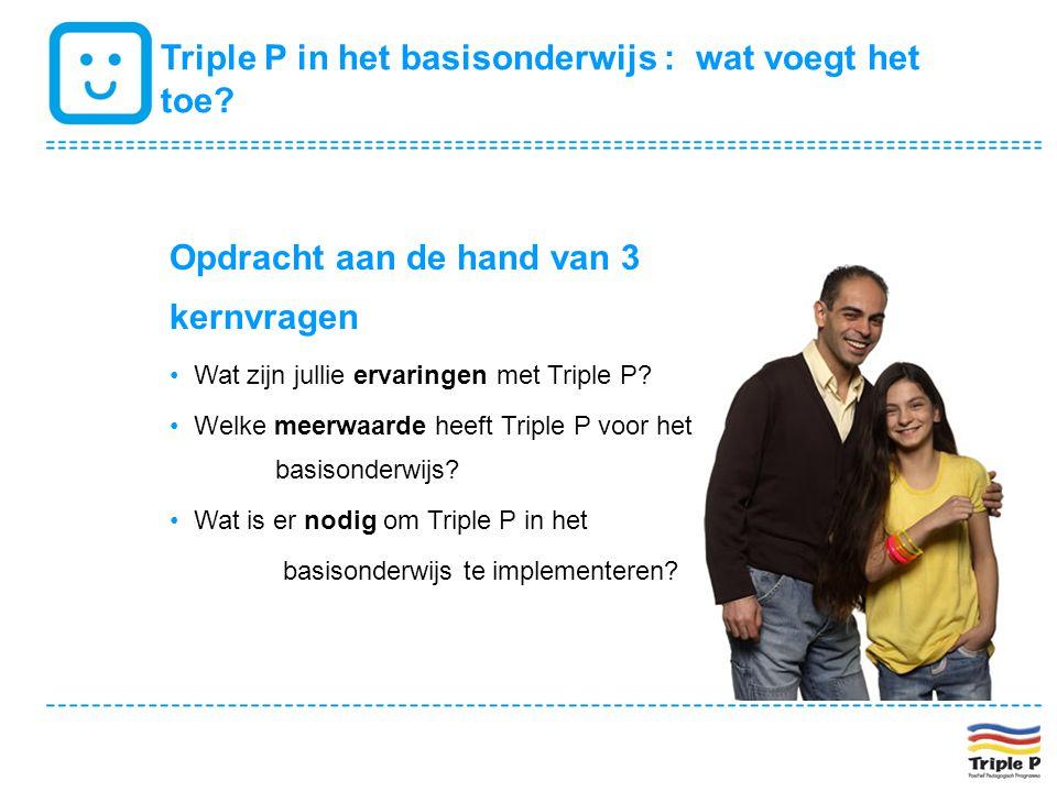Triple P in het basisonderwijs : wat voegt het toe