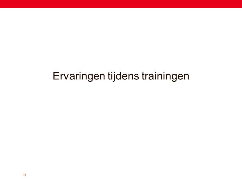 Ervaringen tijdens trainingen