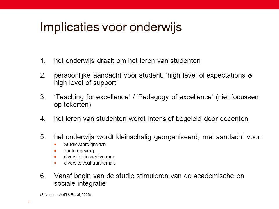 Implicaties voor onderwijs