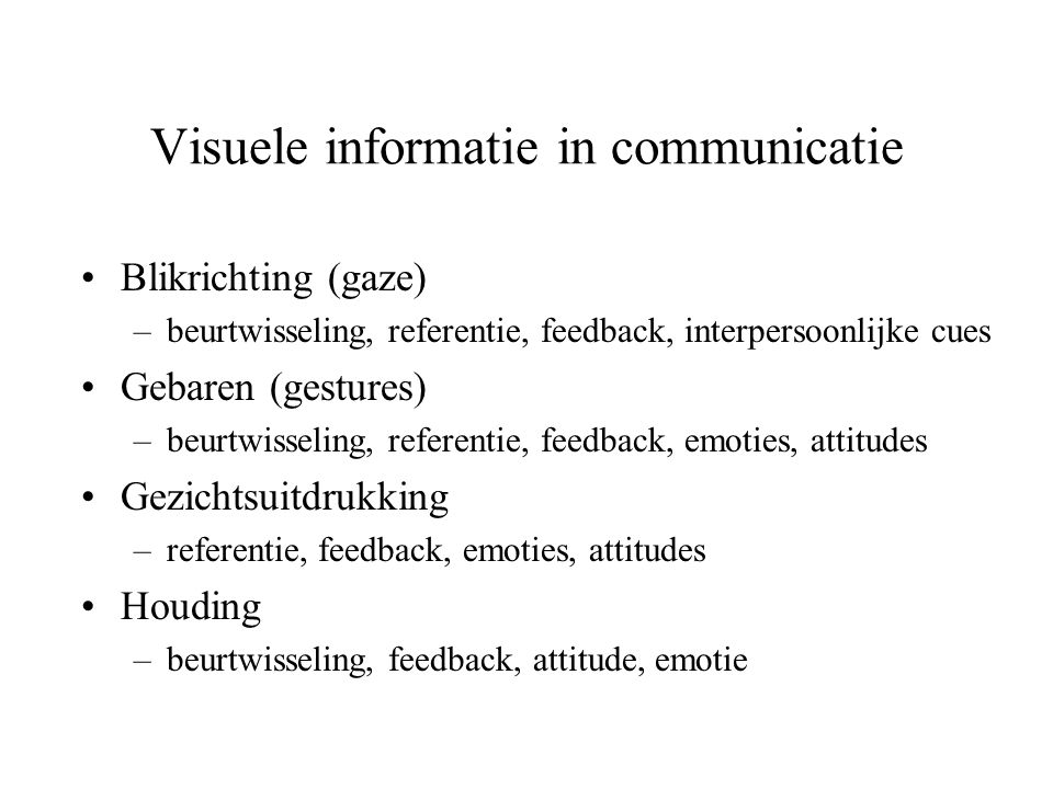 Visuele informatie in communicatie