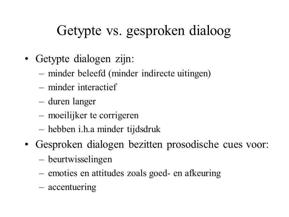 Getypte vs. gesproken dialoog
