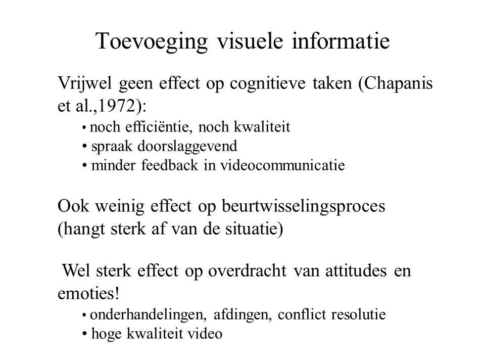 Toevoeging visuele informatie