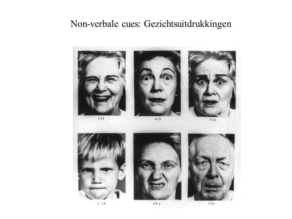 Non-verbale cues: Gezichtsuitdrukkingen