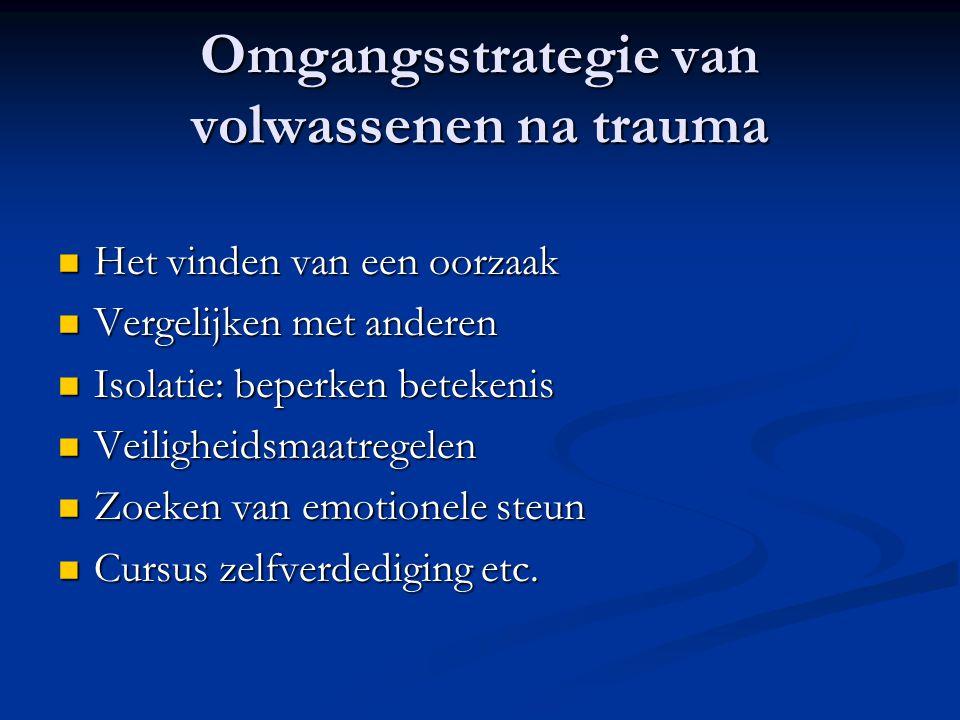 Omgangsstrategie van volwassenen na trauma