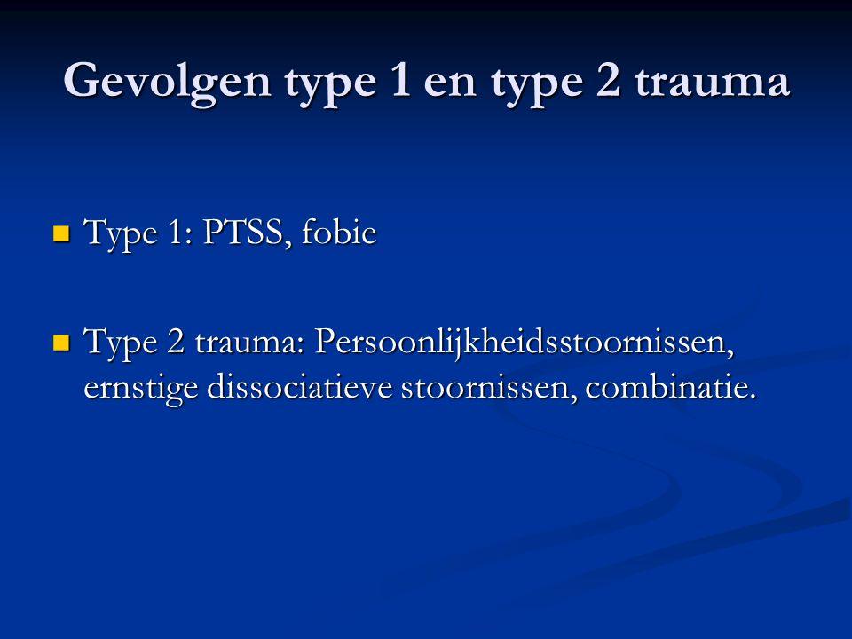 Gevolgen type 1 en type 2 trauma