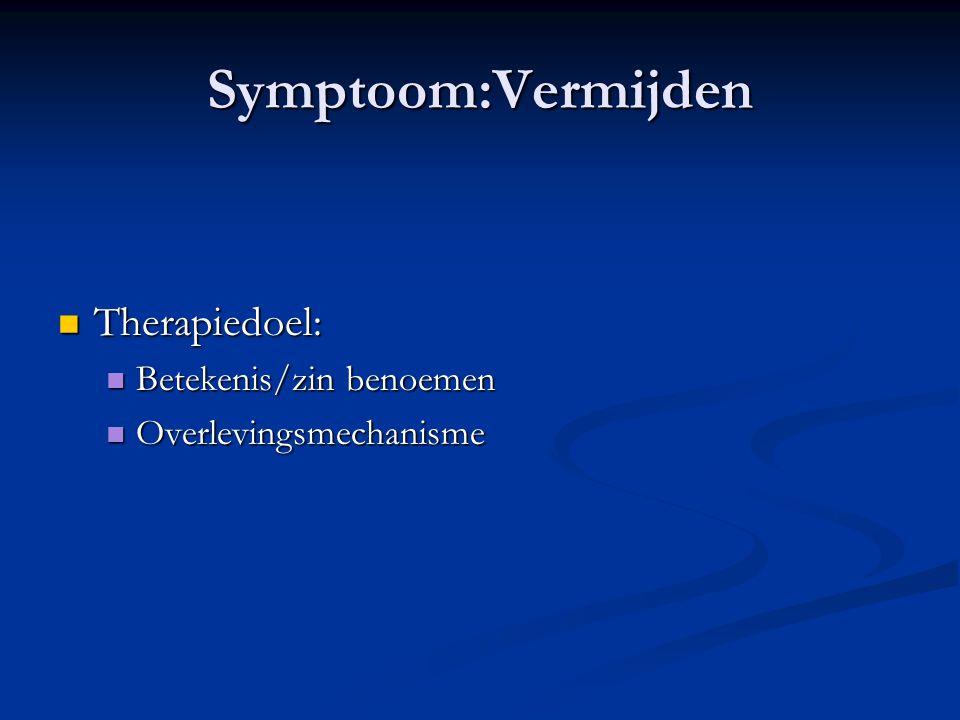 Symptoom:Vermijden Therapiedoel: Betekenis/zin benoemen