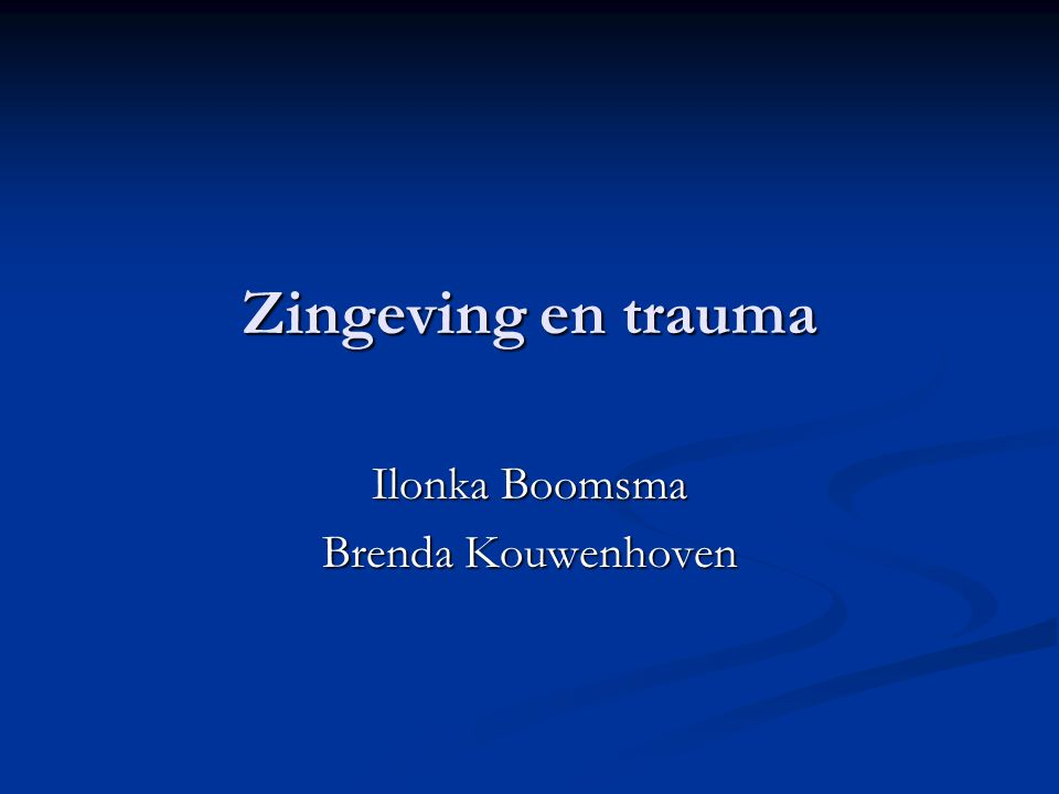 Ilonka Boomsma Brenda Kouwenhoven