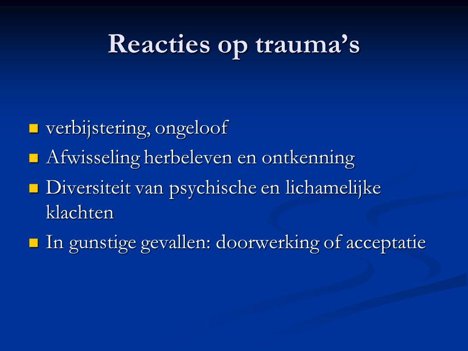Reacties op trauma's verbijstering, ongeloof
