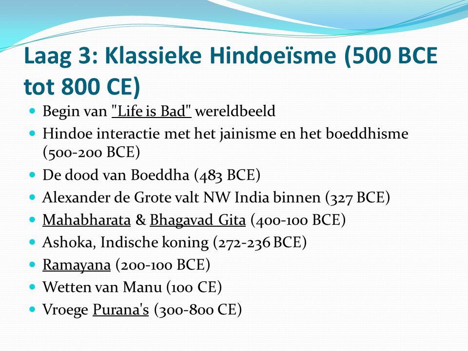 Laag 3: Klassieke Hindoeïsme (500 BCE tot 800 CE)