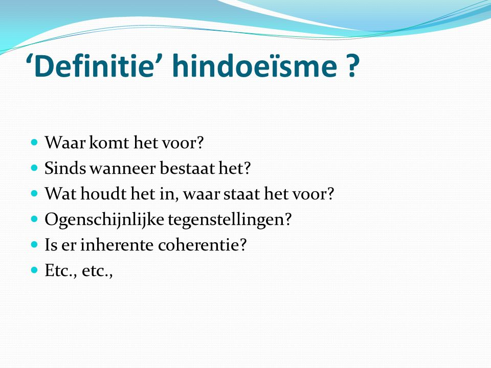 'Definitie' hindoeïsme