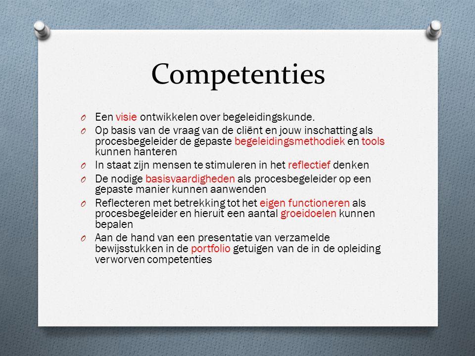 Competenties Een visie ontwikkelen over begeleidingskunde.