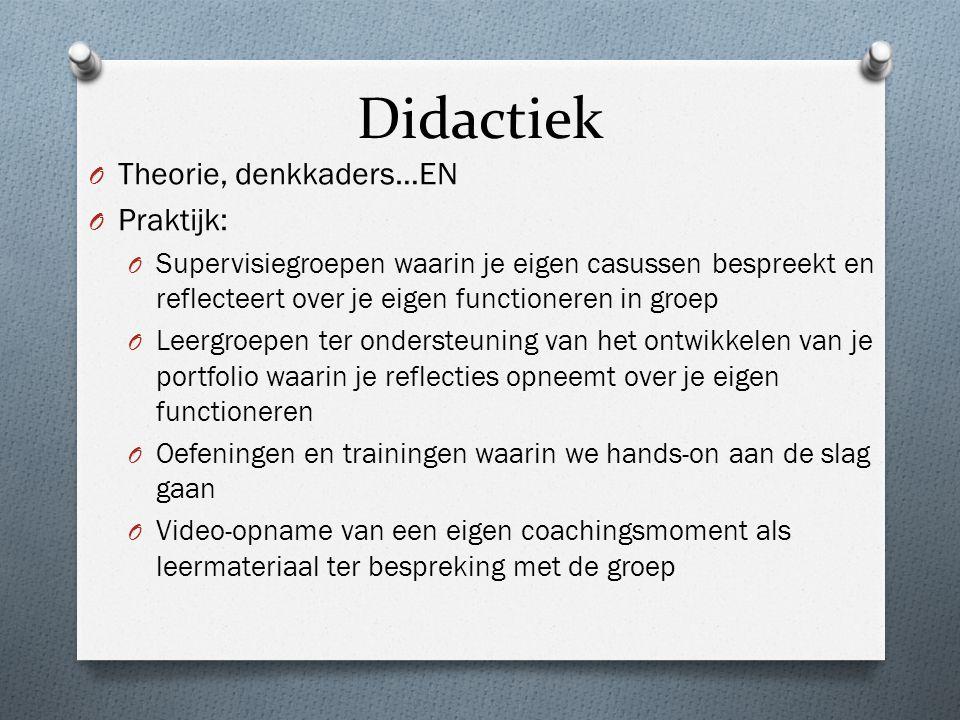 Didactiek Theorie, denkkaders…EN Praktijk: