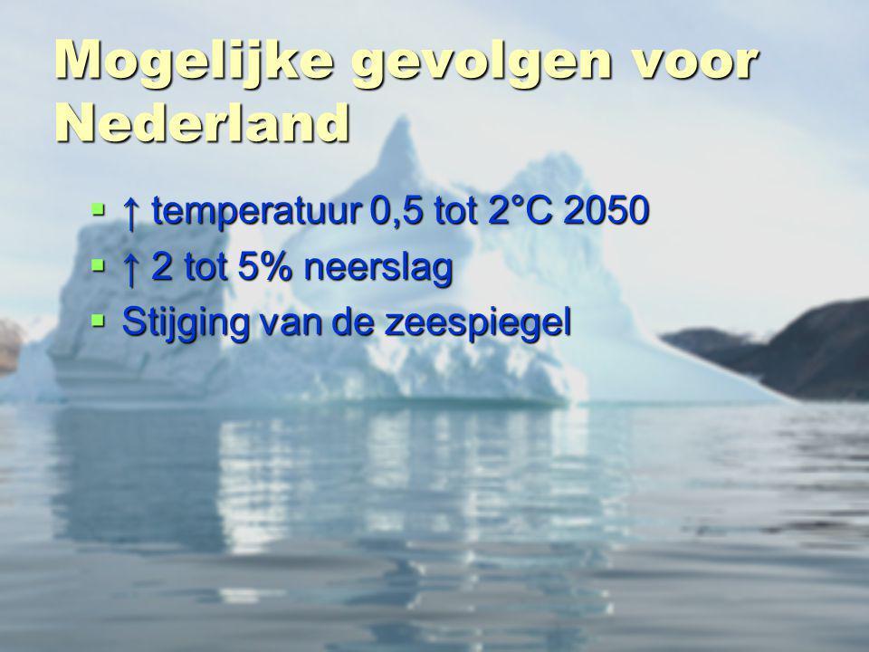 Mogelijke gevolgen voor Nederland