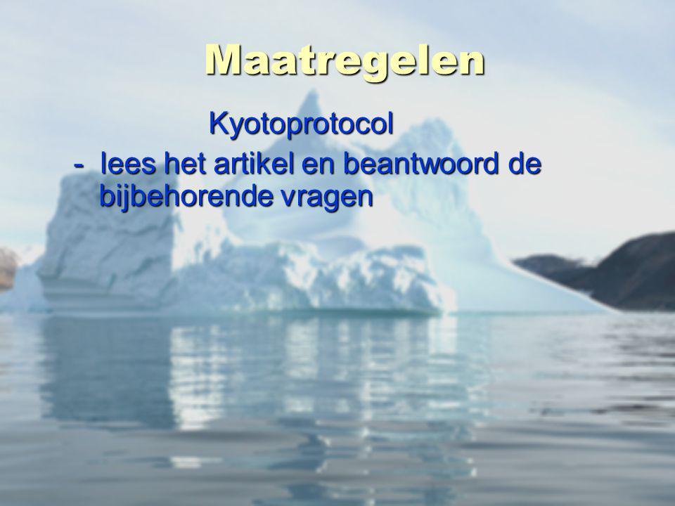 Maatregelen Kyotoprotocol