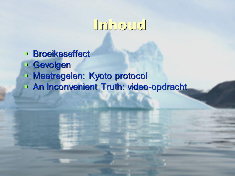 Inhoud Broeikaseffect Gevolgen Maatregelen: Kyoto protocol