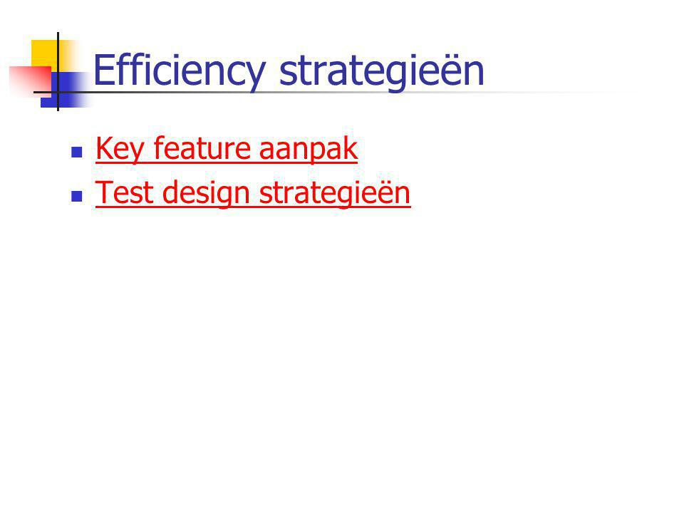 Efficiency strategieën