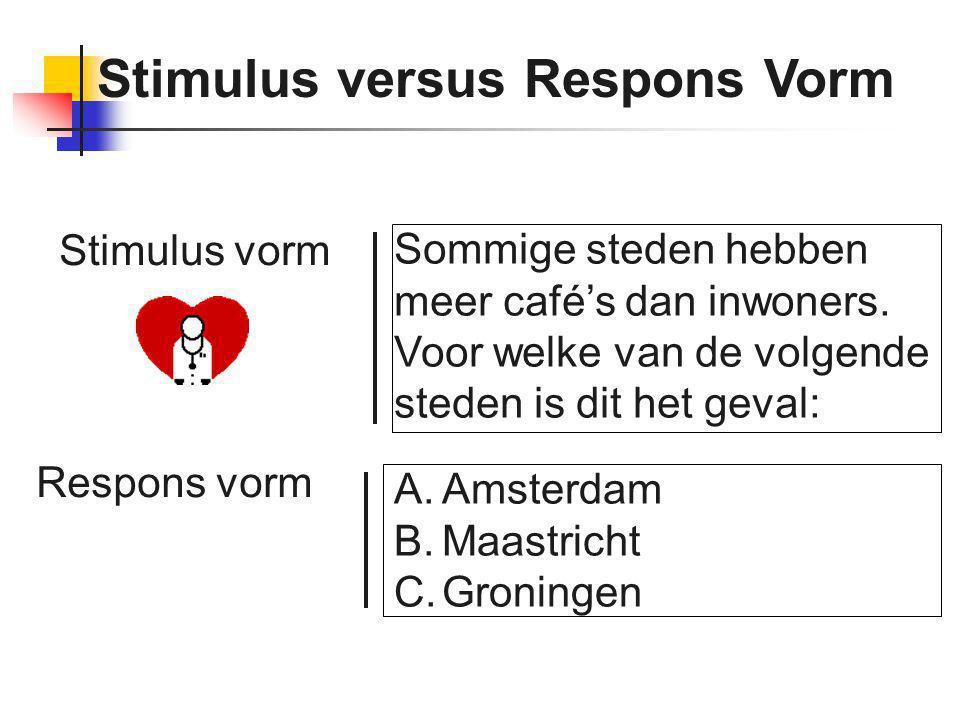 Stimulus versus Respons Vorm