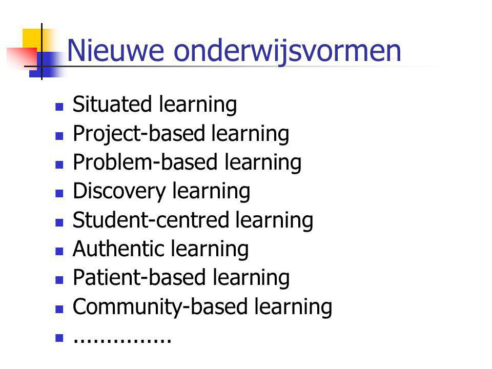 Nieuwe onderwijsvormen