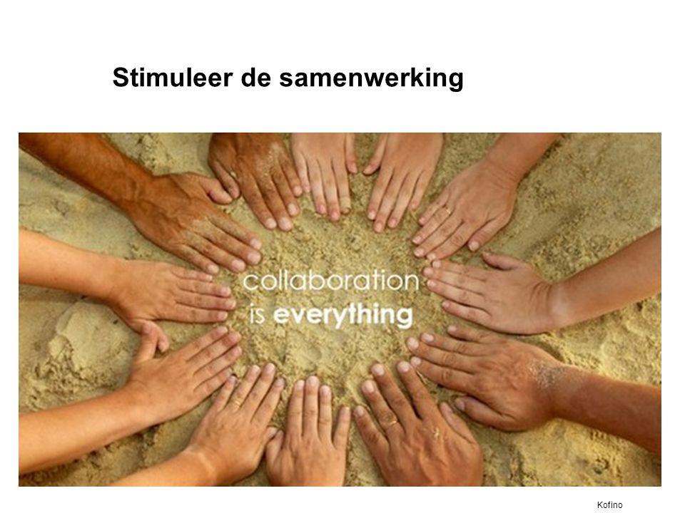 Stimuleer de samenwerking
