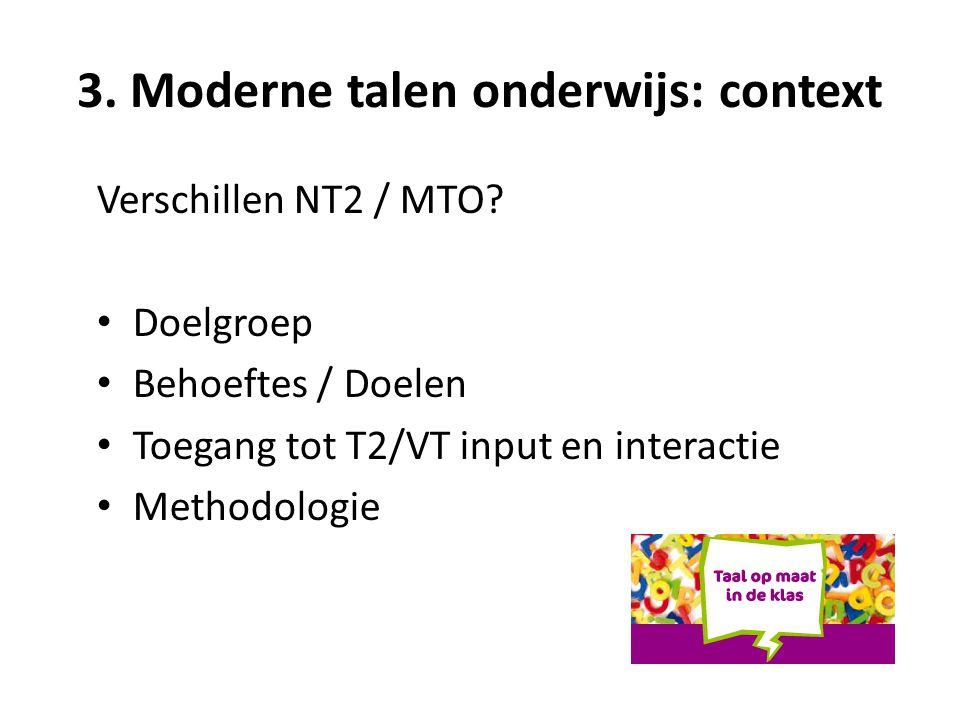 3. Moderne talen onderwijs: context