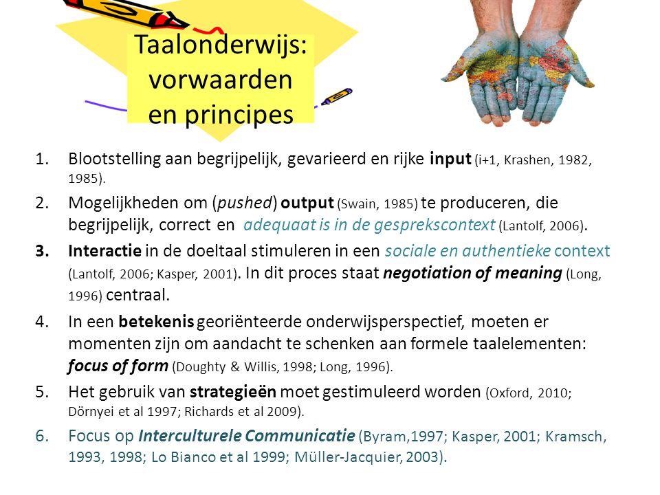Taalonderwijs: vorwaarden en principes