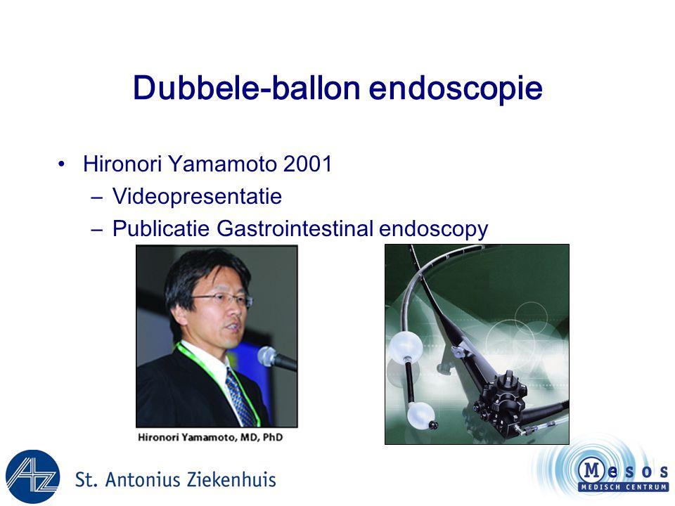 Dubbele-ballon endoscopie