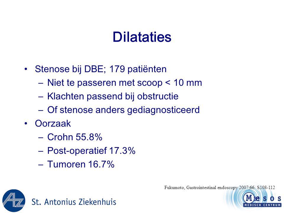 Dilataties Stenose bij DBE; 179 patiënten