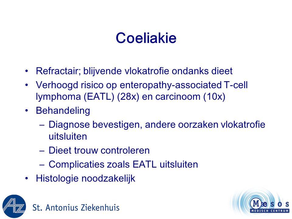 Coeliakie Refractair; blijvende vlokatrofie ondanks dieet