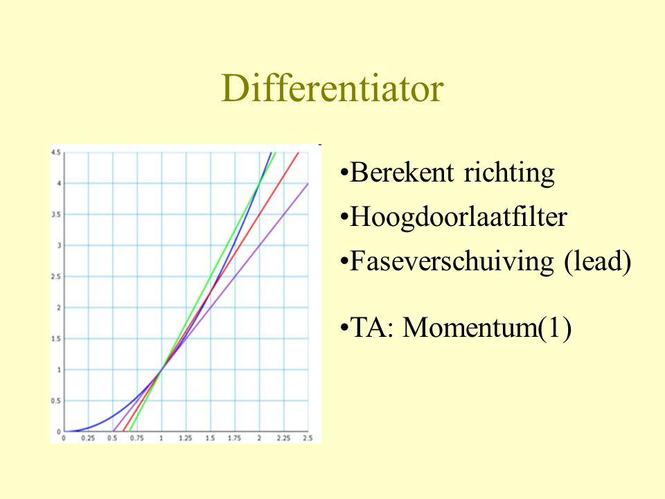 Differentiator Berekent richting Hoogdoorlaatfilter