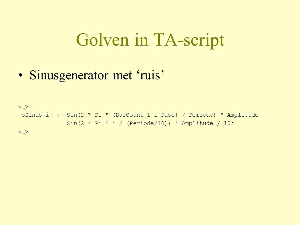Golven in TA-script Sinusgenerator met 'ruis' <…>