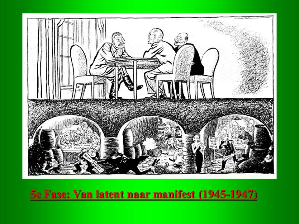 5e Fase: Van latent naar manifest (1945-1947)