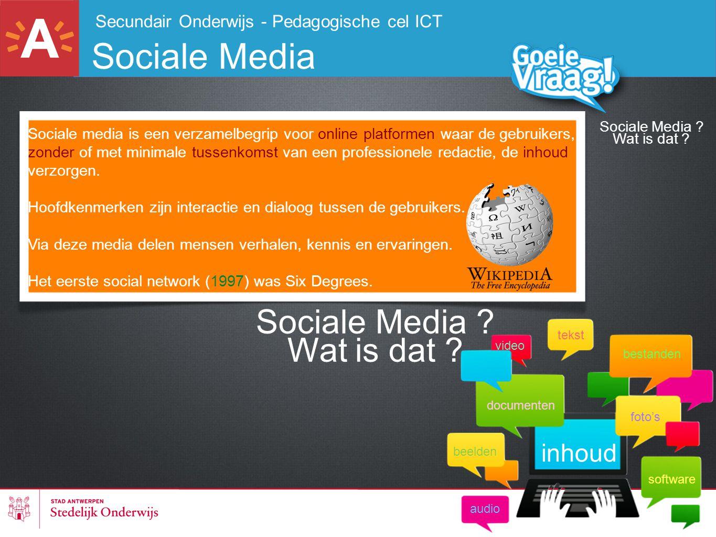 Sociale Media Sociale Media Wat is dat inhoud