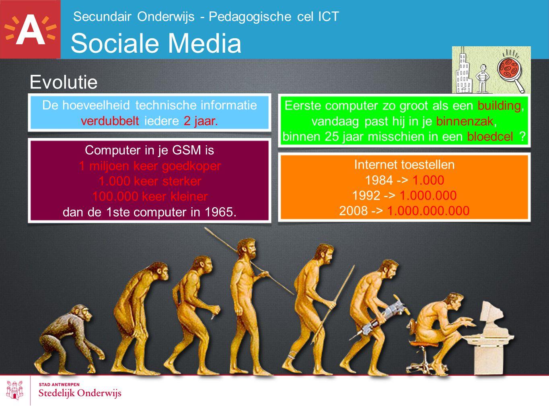 Sociale Media Evolutie Secundair Onderwijs - Pedagogische cel ICT