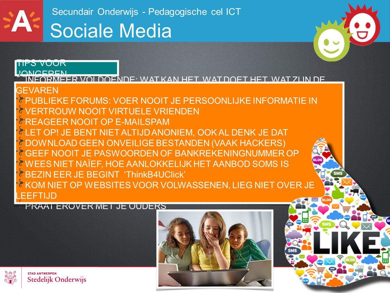 Sociale Media Secundair Onderwijs - Pedagogische cel ICT