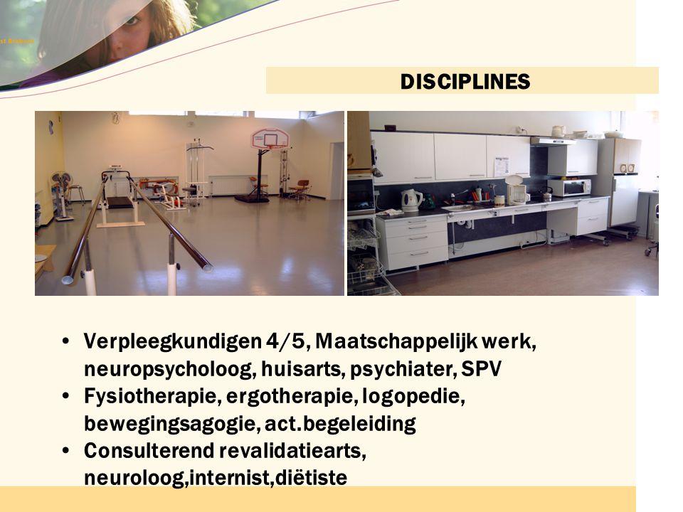 Consulterend revalidatiearts, neuroloog,internist,diëtiste